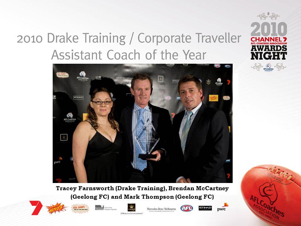 Tracey Farnsworth (Drake Training), Brendan McCartney (Geelong FC) and Mark Thompson (Geelong FC)