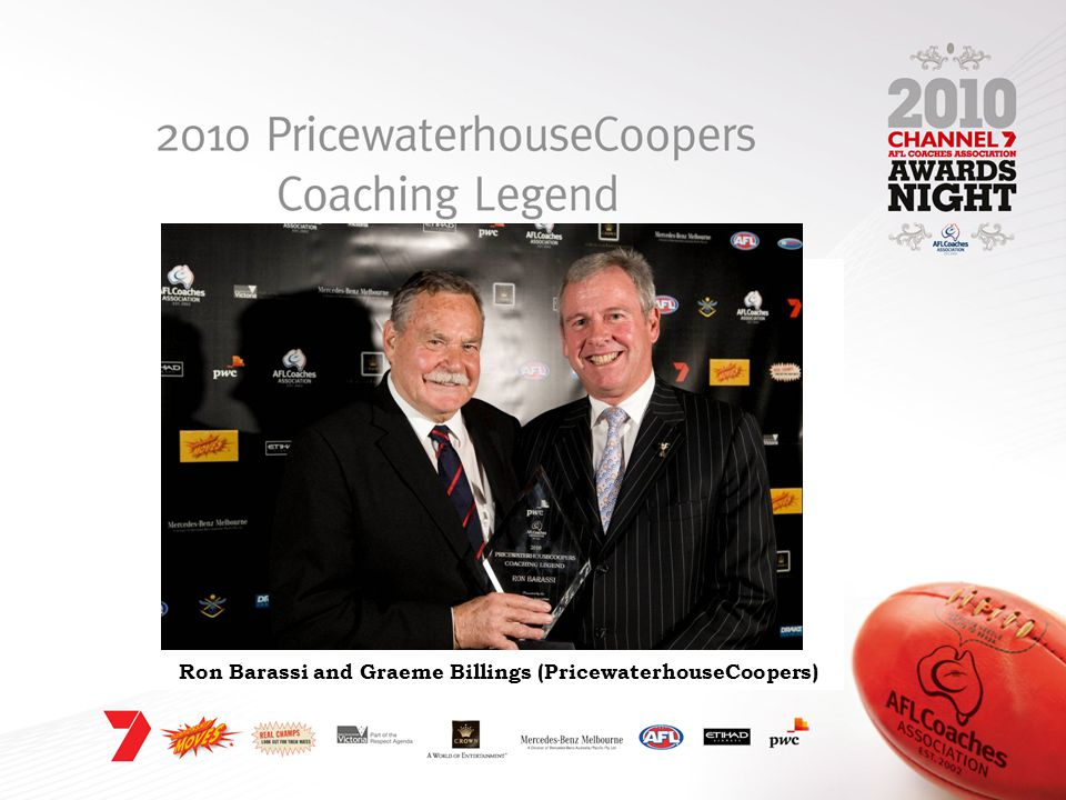Ron Barassi and Graeme Billings (PricewaterhouseCoopers)