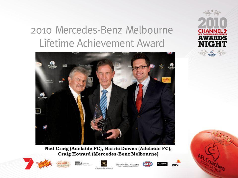 Neil Craig (Adelaide FC), Barrie Downs (Adelaide FC), Craig Howard (Mercedes-Benz Melbourne)