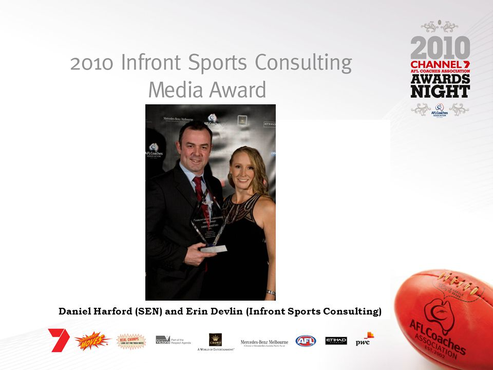 Daniel Harford (SEN) and Erin Devlin (Infront Sports Consulting)