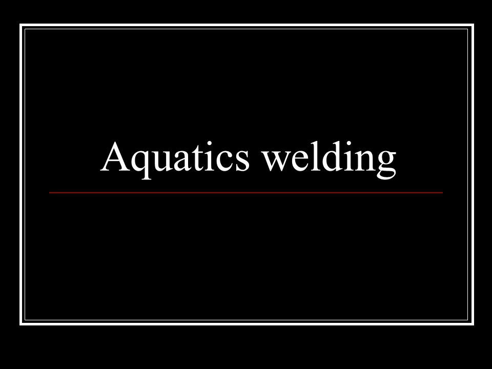 Career Description Aquatic welding is mostly done on the coast and Great Lakes Underwater welders weld ships oil rigs and even for NASA There are a lot of other stuff they do to like using ROVs (remote operated vehicles).