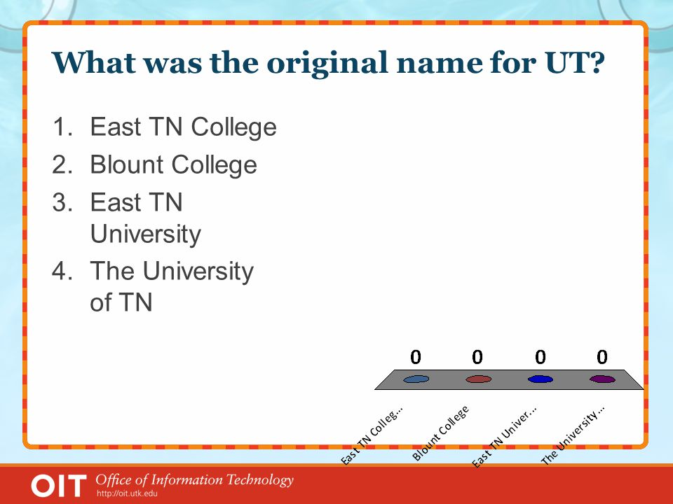 What was the original name for UT.