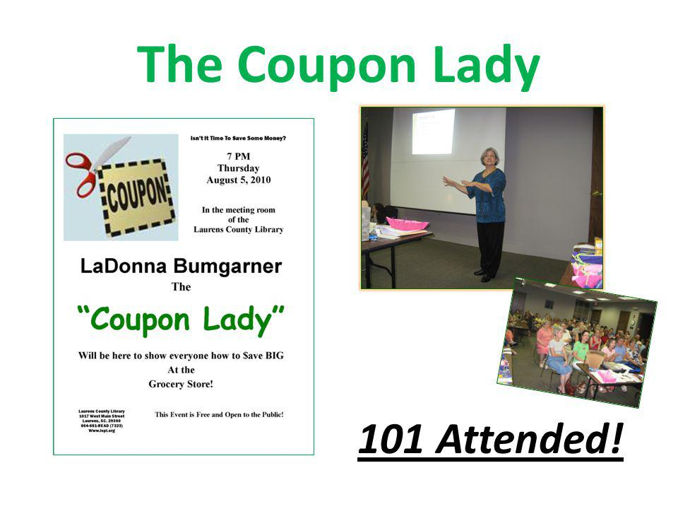 The Coupon Lady 101 Attended!