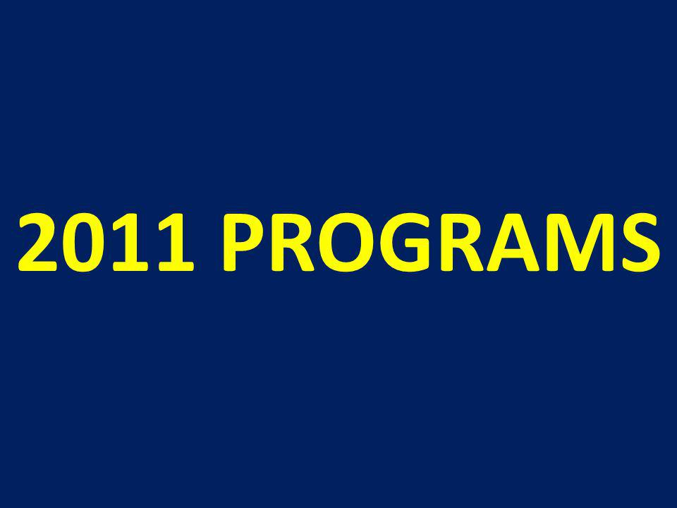 2011 PROGRAMS