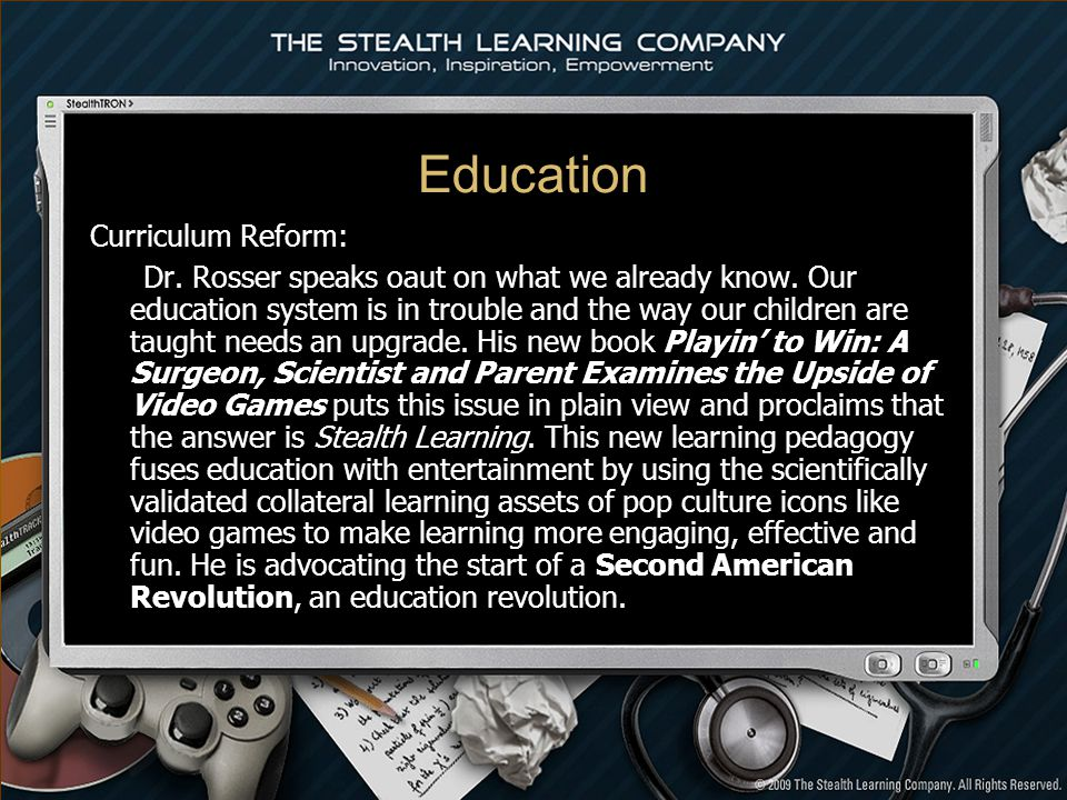 Education Curriculum Reform: Dr. Rosser speaks oaut on what we already know.