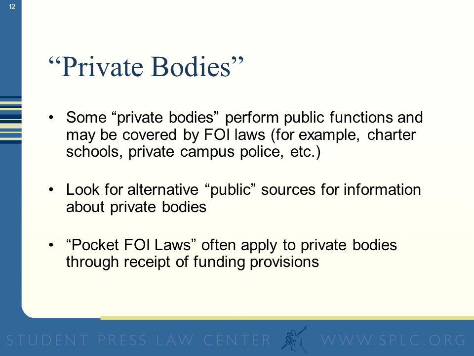 11 Public: Federal government agencies (FBI, Dept.