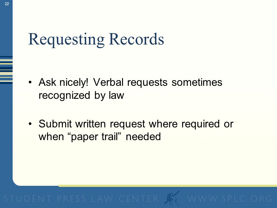21 Redaction and Release Often Required