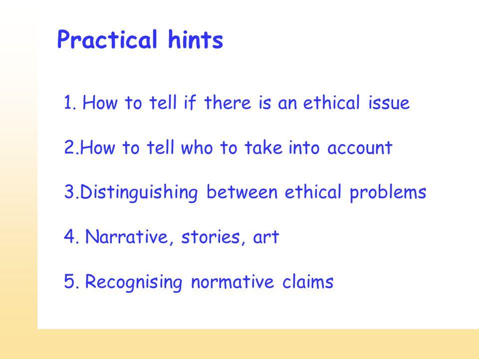 Practical hints 1.