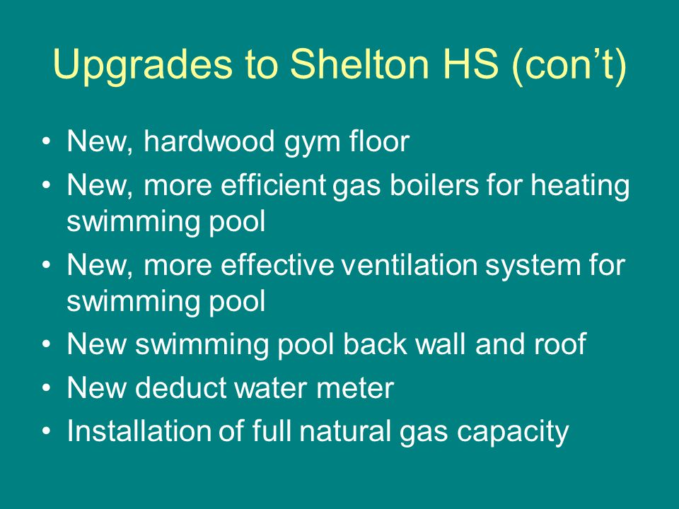 Shelton High School (cont)