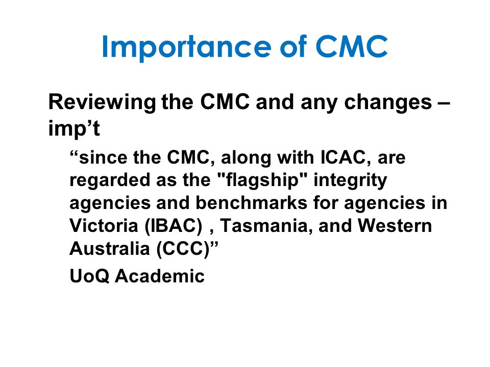 Origins of CJC/CMC Fitzgerald Report est EARC and the CJC and stated: The main object of this report and its recommendations is to bring about improved structures and systems.