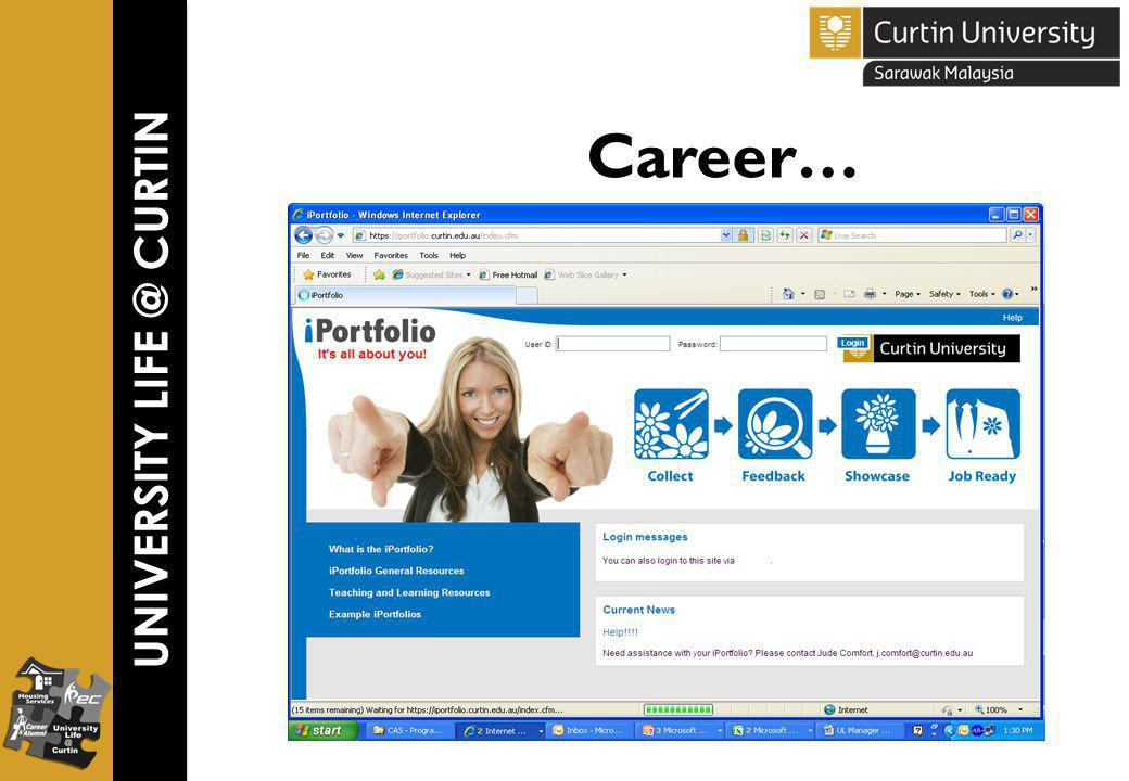 UNIVERSITY LIFE @ CURTIN Career…