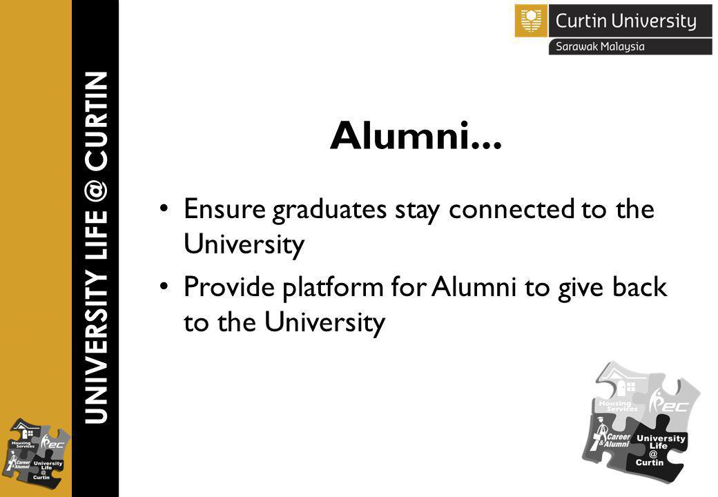 UNIVERSITY LIFE @ CURTIN Alumni...