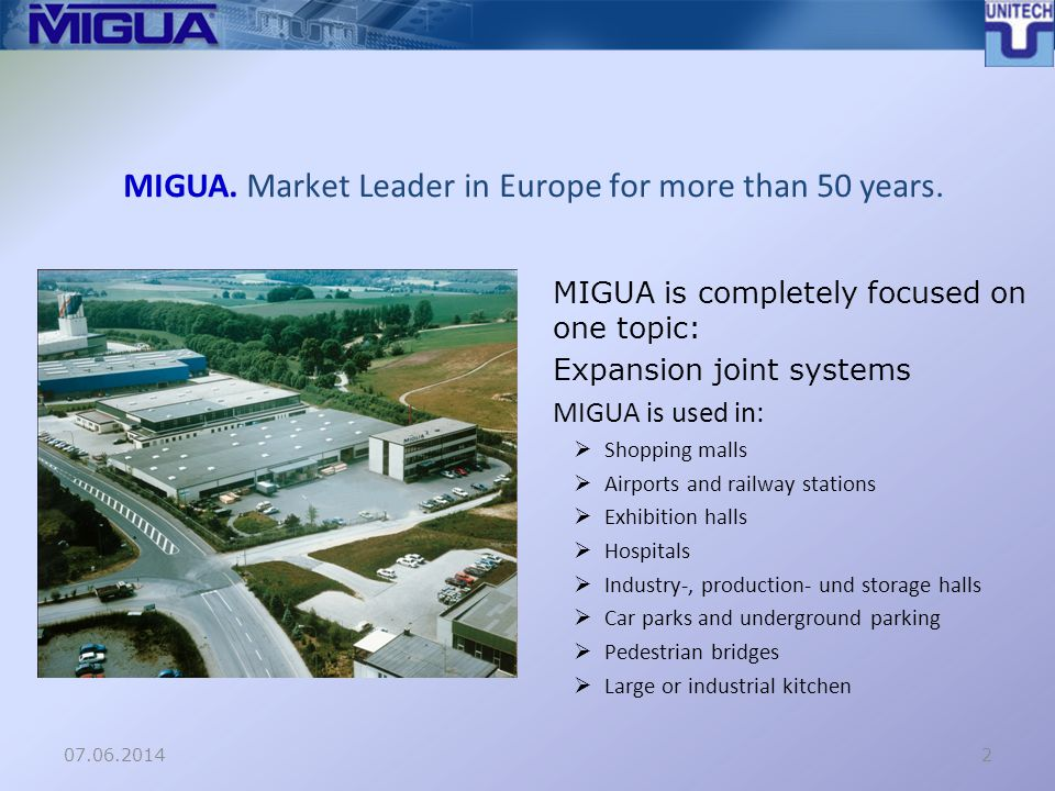 MIGUA. Market Leader in Europe for more than 50 years.