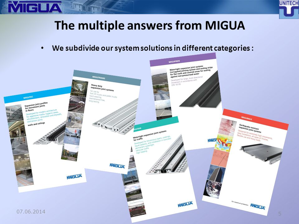 Special solutions – a standard for MIGUA 07.06.20146