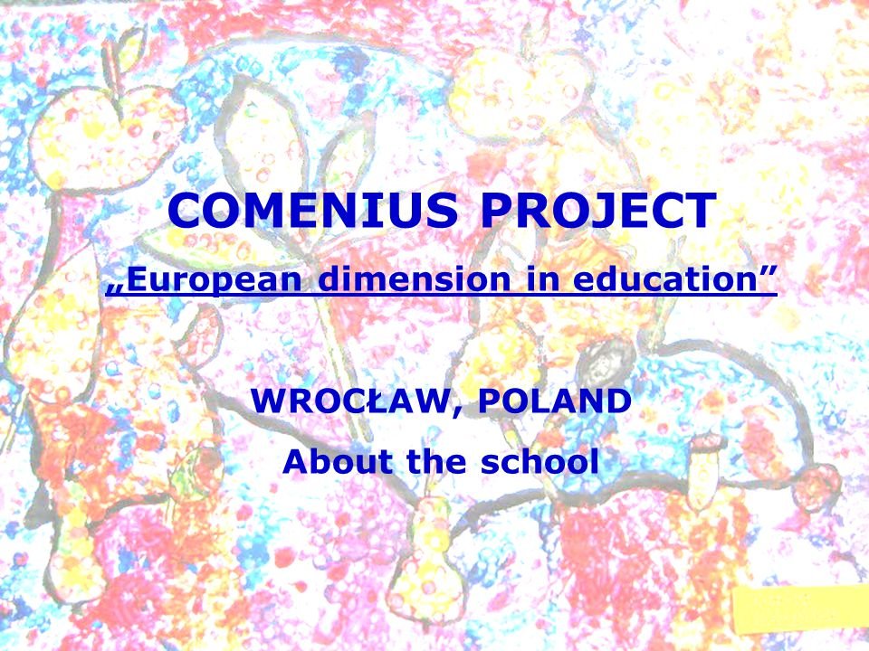 COMENIUS PROJECT European dimension in education WROCŁAW, POLAND About the school