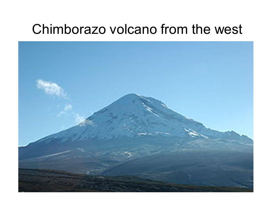 Chimborazo volcano from the west
