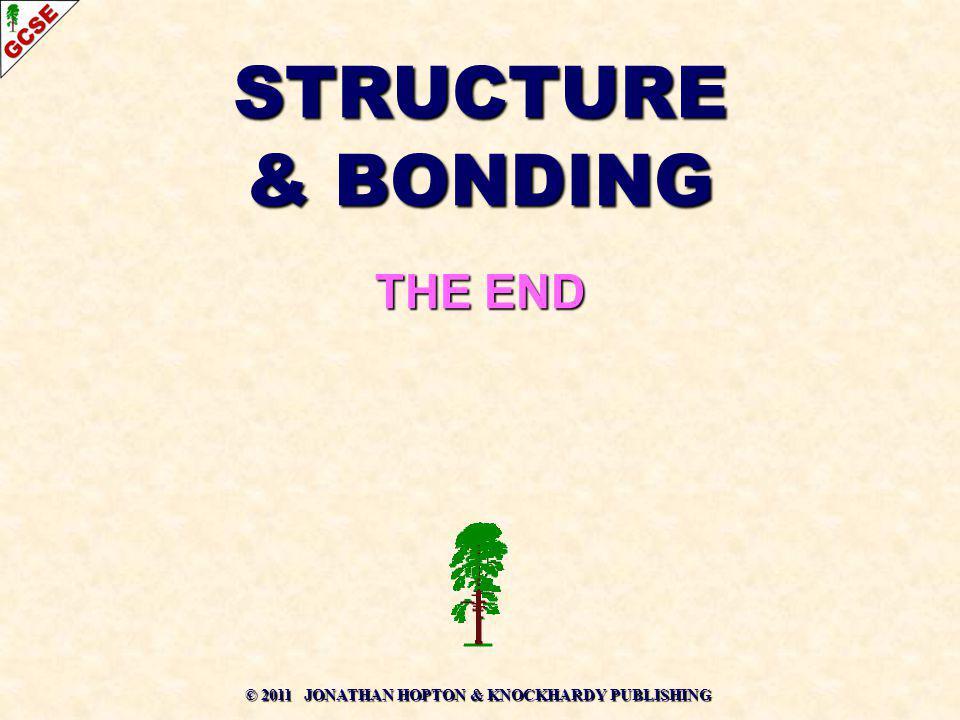 © 2011 JONATHAN HOPTON & KNOCKHARDY PUBLISHING STRUCTURE & BONDING THE END