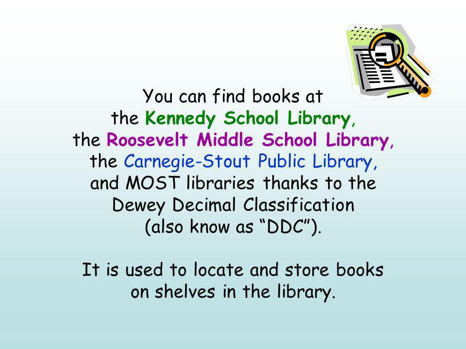 Do you know Dewey.An introduction to the Dewey Decimal Classification System John F.