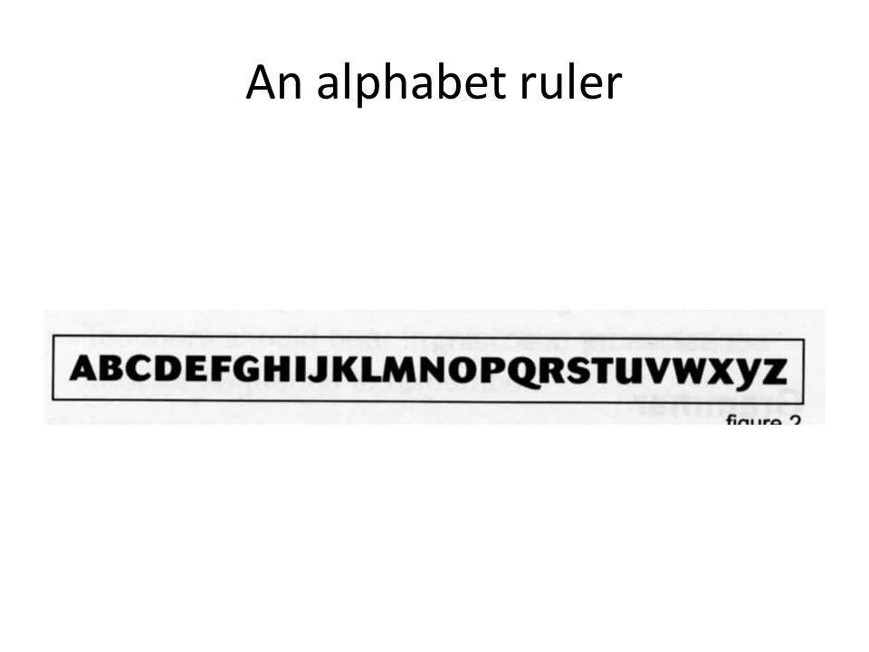 An alphabet ruler