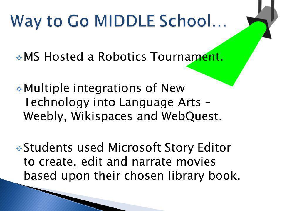 MS Hosted a Robotics Tournament.