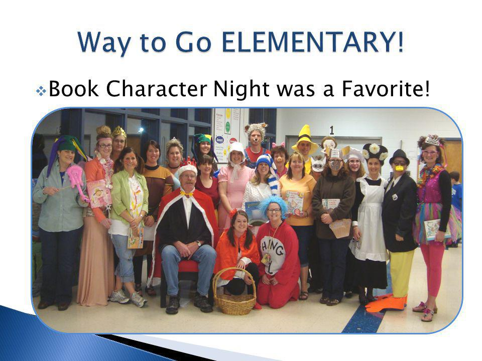 Book Character Night was a Favorite!