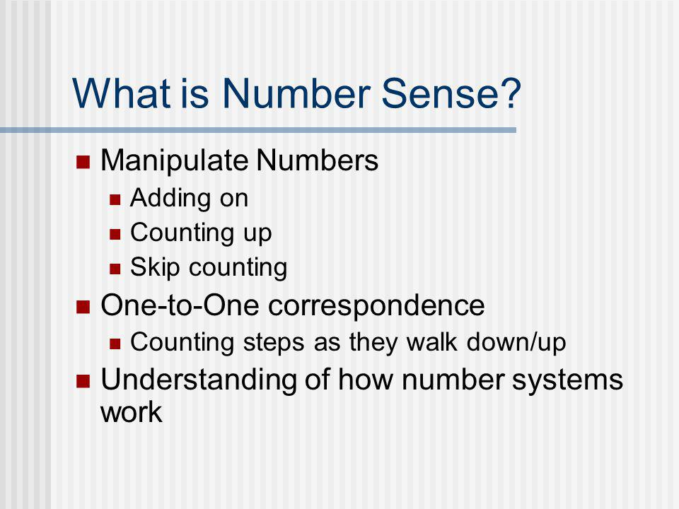 Number Sense Computation Prerequisite ……in the same way as……… Phonemic Awareness Prerequisite Reading Fluency