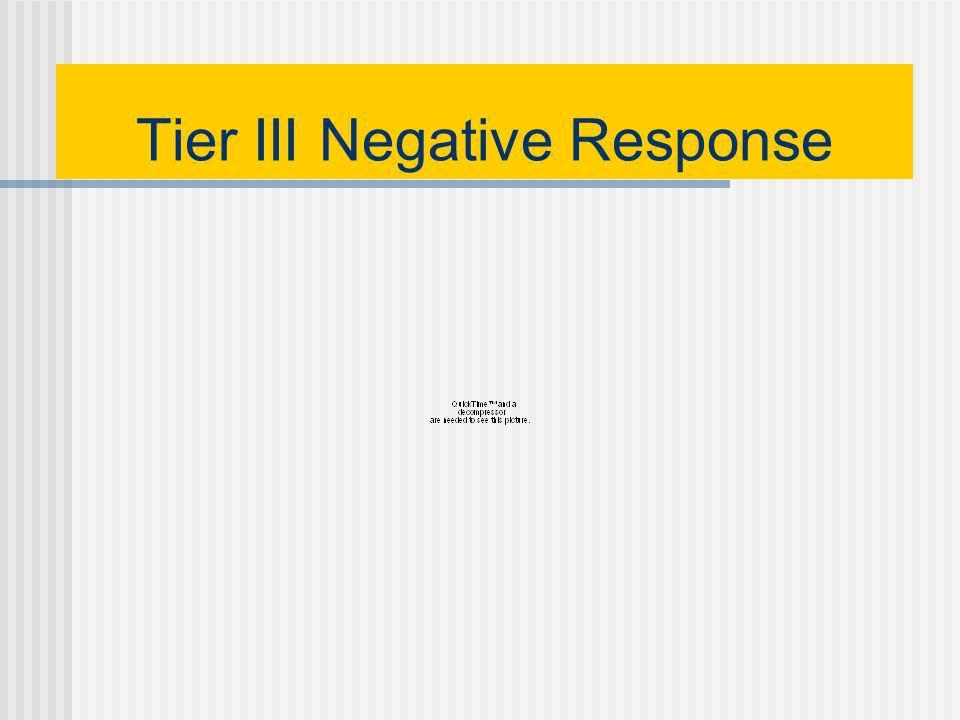 Tier III Positive Response