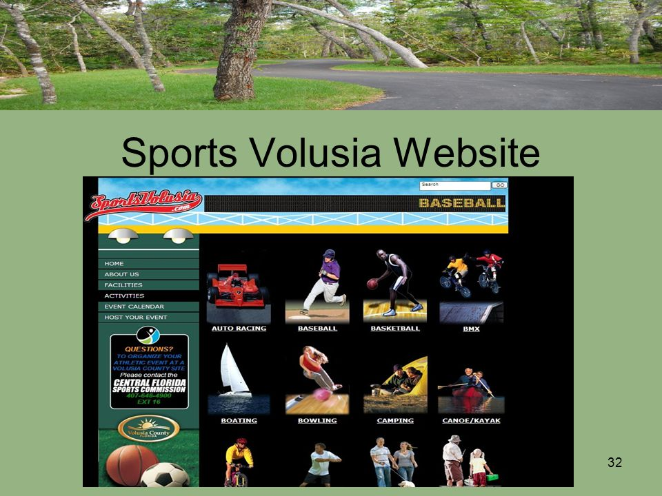 32 Sports Volusia Website