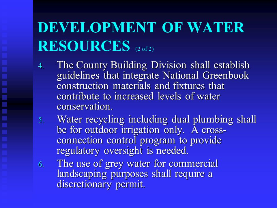 DEVELOPMENT OF WATER RESOURCES (2 of 2) 4.