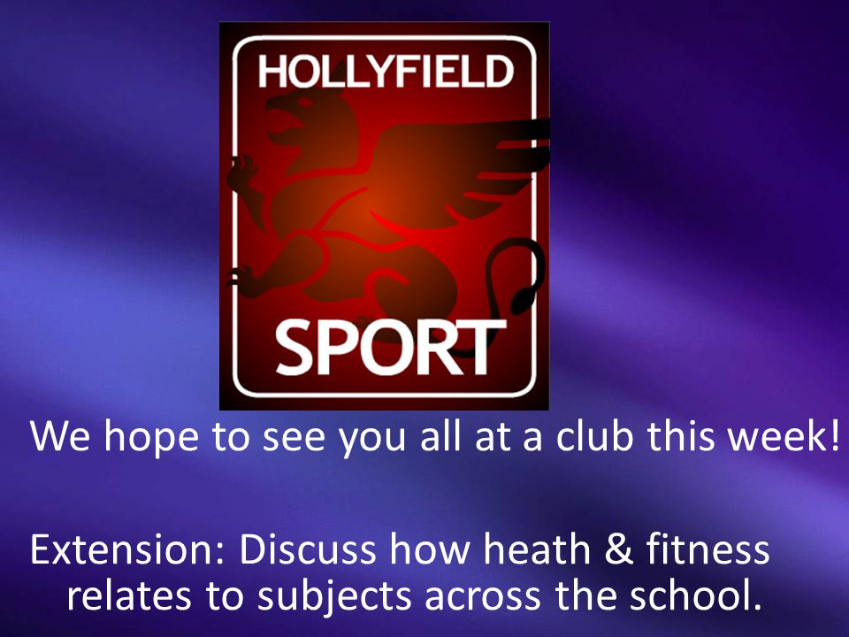 We hope to see you all at a club this week.