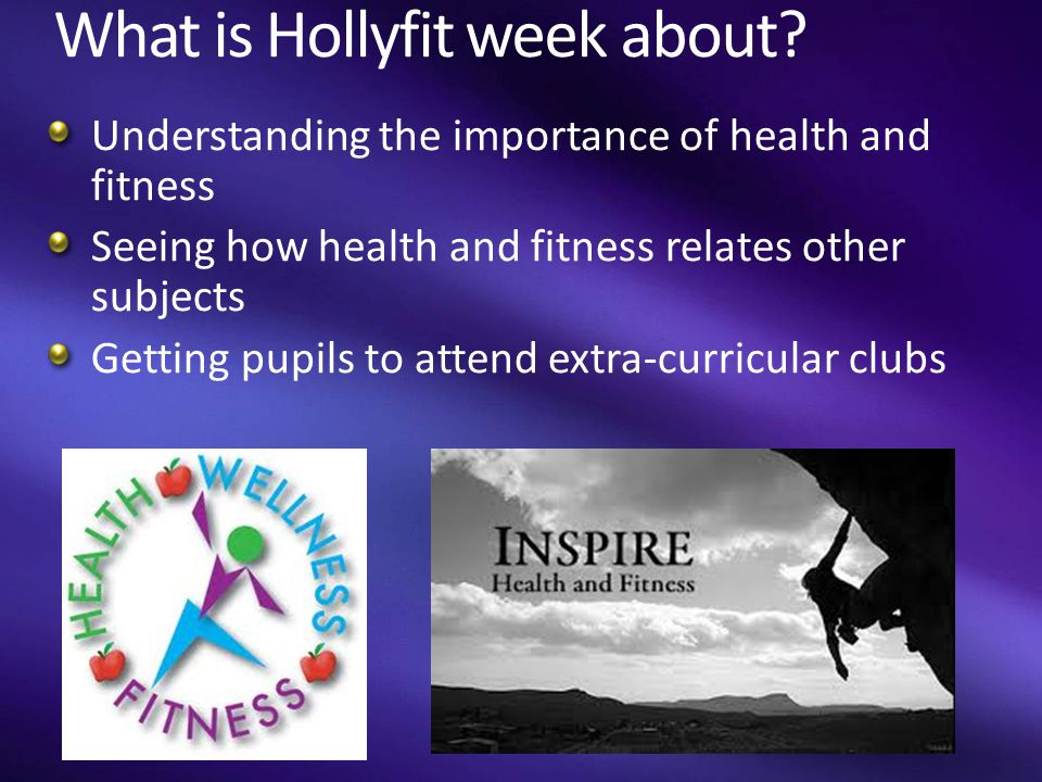 What is Hollyfit week about.