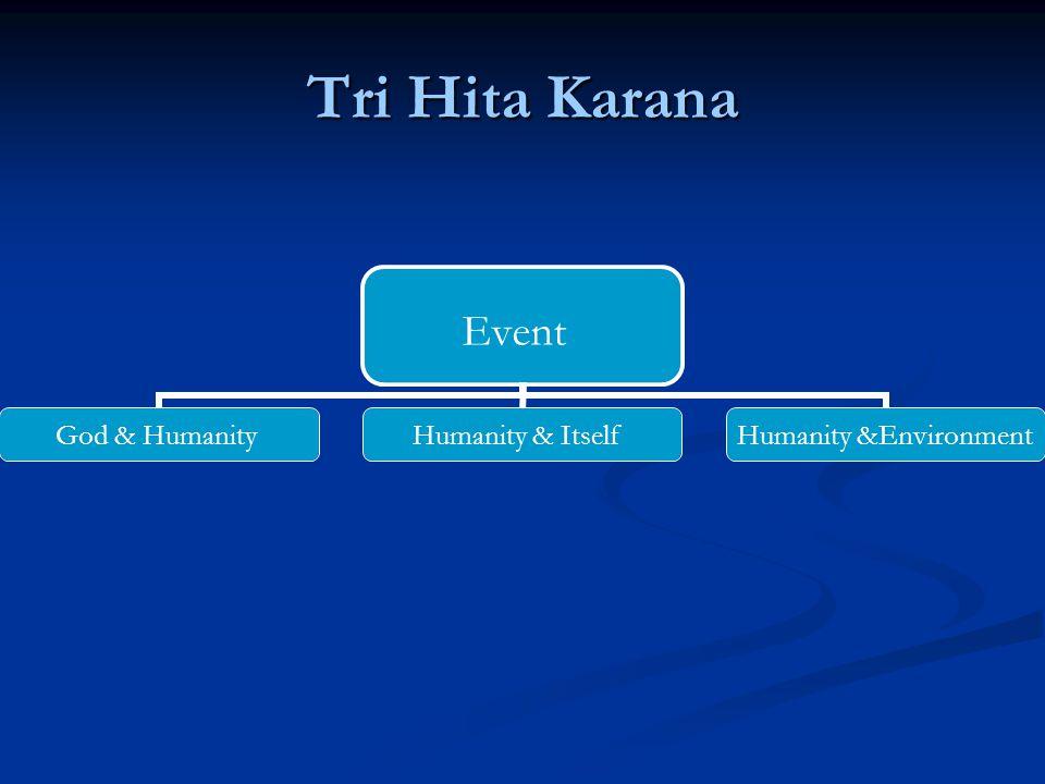 Tri Hita Karana Event God & Humanity Humanity & Itself Humanity &Environment