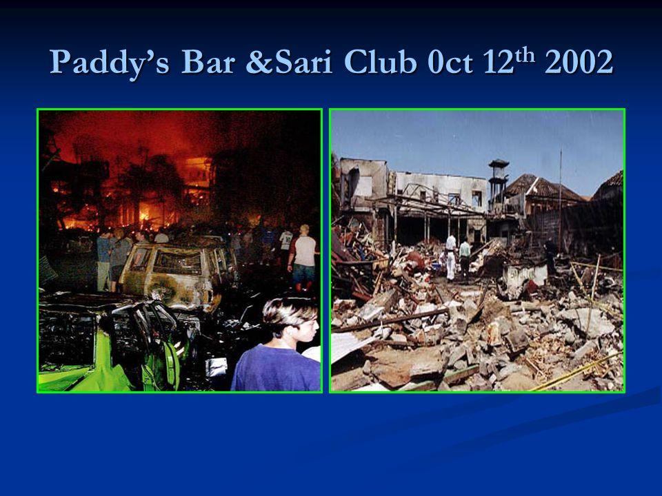 Paddys Bar &Sari Club 0ct 12 th 2002