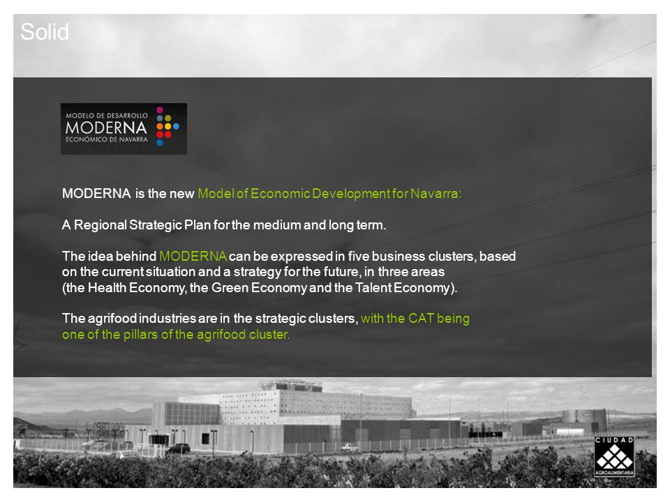 MODERNA is the new Model of Economic Development for Navarra: A Regional Strategic Plan for the medium and long term.