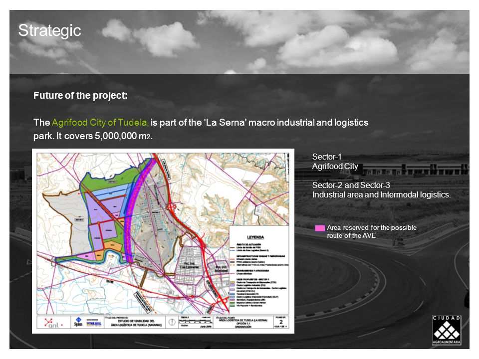 Future of the project: The Agrifood City of Tudela, is part of the La Serna macro industrial and logistics park.