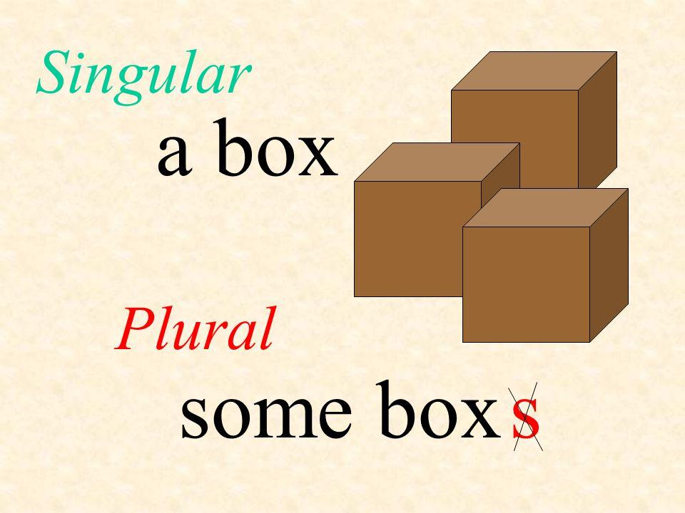 a box Plural Singular some boxs