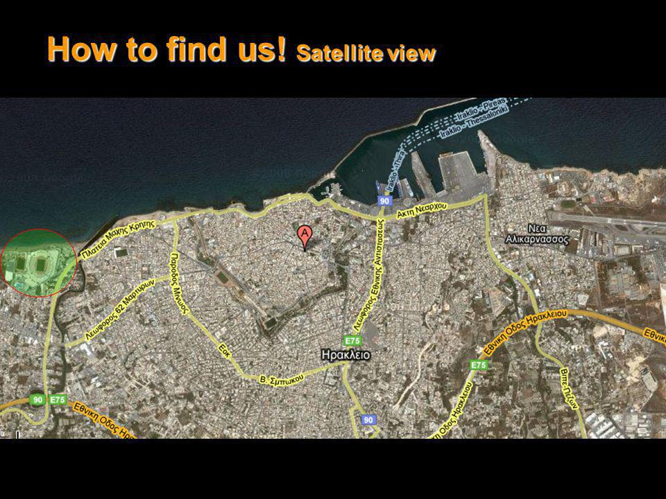 How to find us! Satellite view