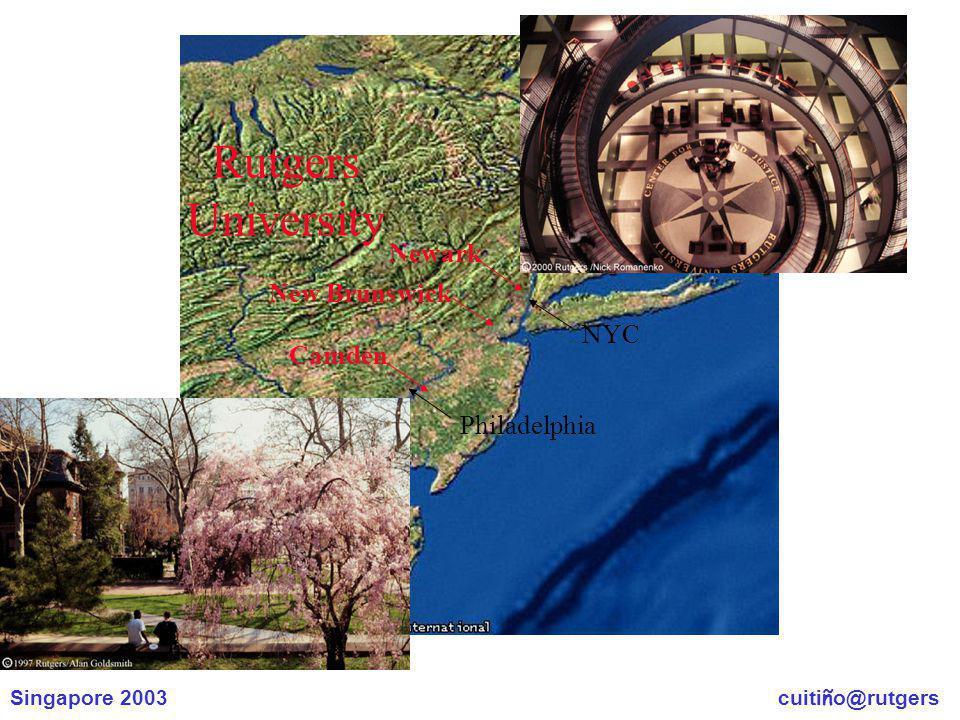 Singapore 2003 cuiti ñ o@rutgers Rutgers University Philadelphia NYC New Brunswick Camden Newark