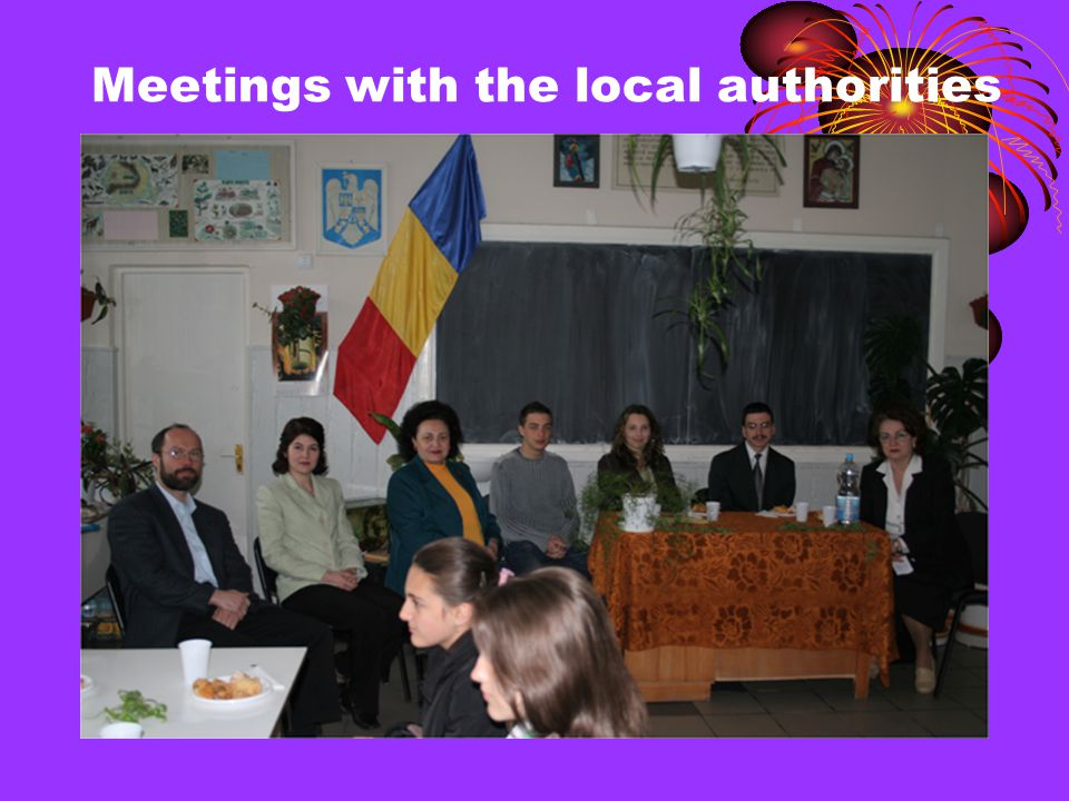 Meetings with the local authorities