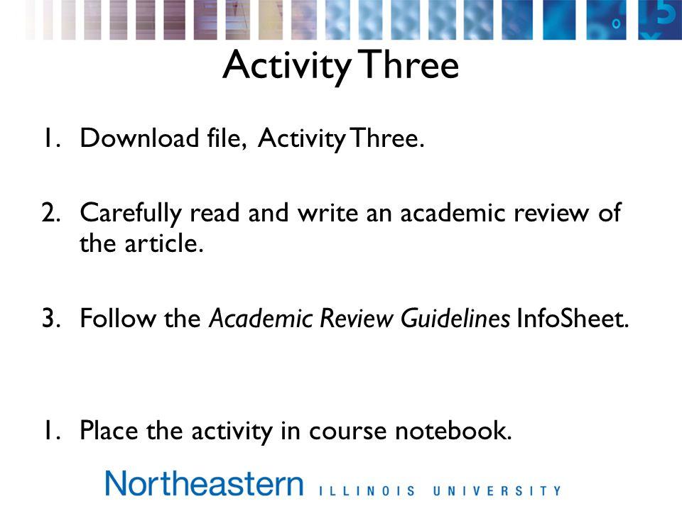 Activity Three 1.Download file, Activity Three.