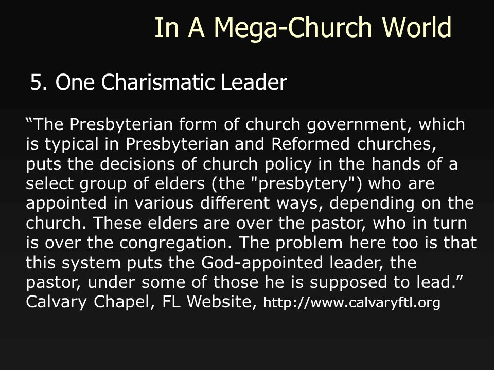 In A Mega-Church World 5.