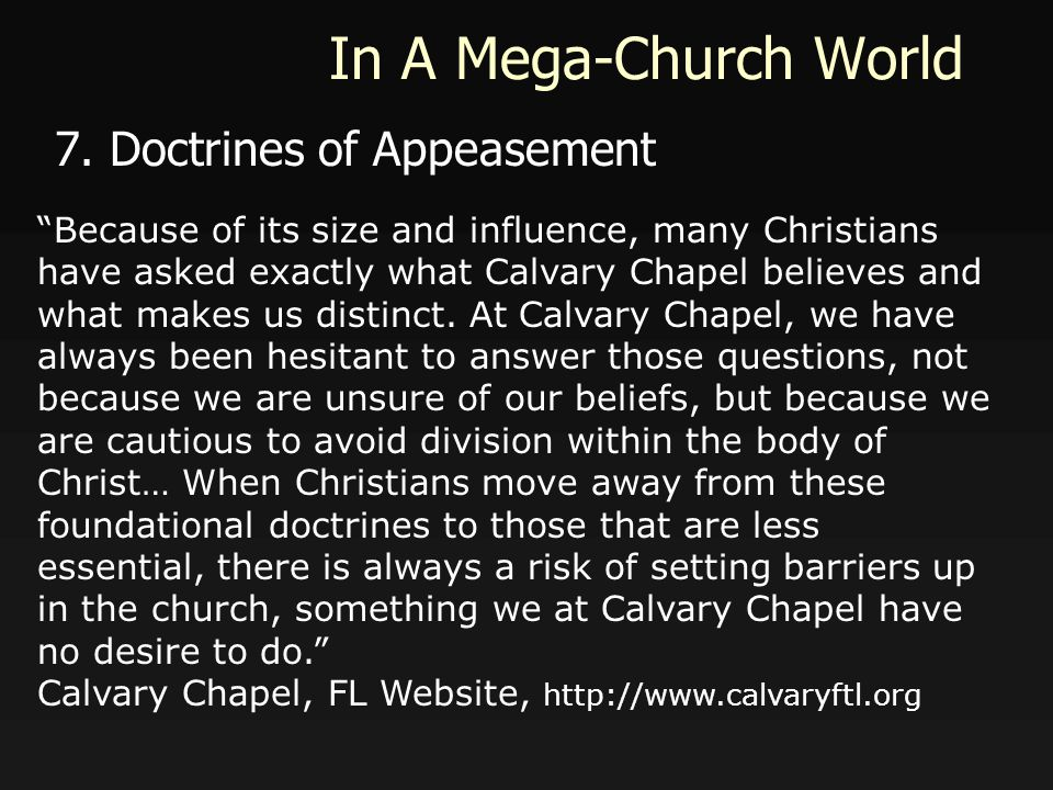 In A Mega-Church World 7.