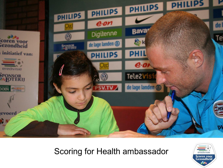 scoren voor gezondheid 2006-2008 Scoring for Health ambassador
