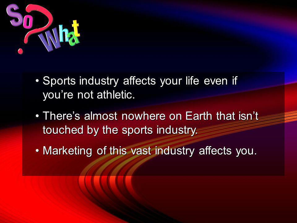 Objective A Explain the nature of the sports industry.
