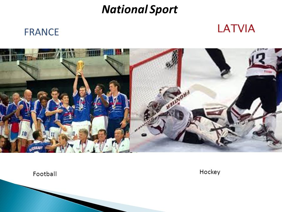 National Sport FRANCE LATVIA Hockey Football