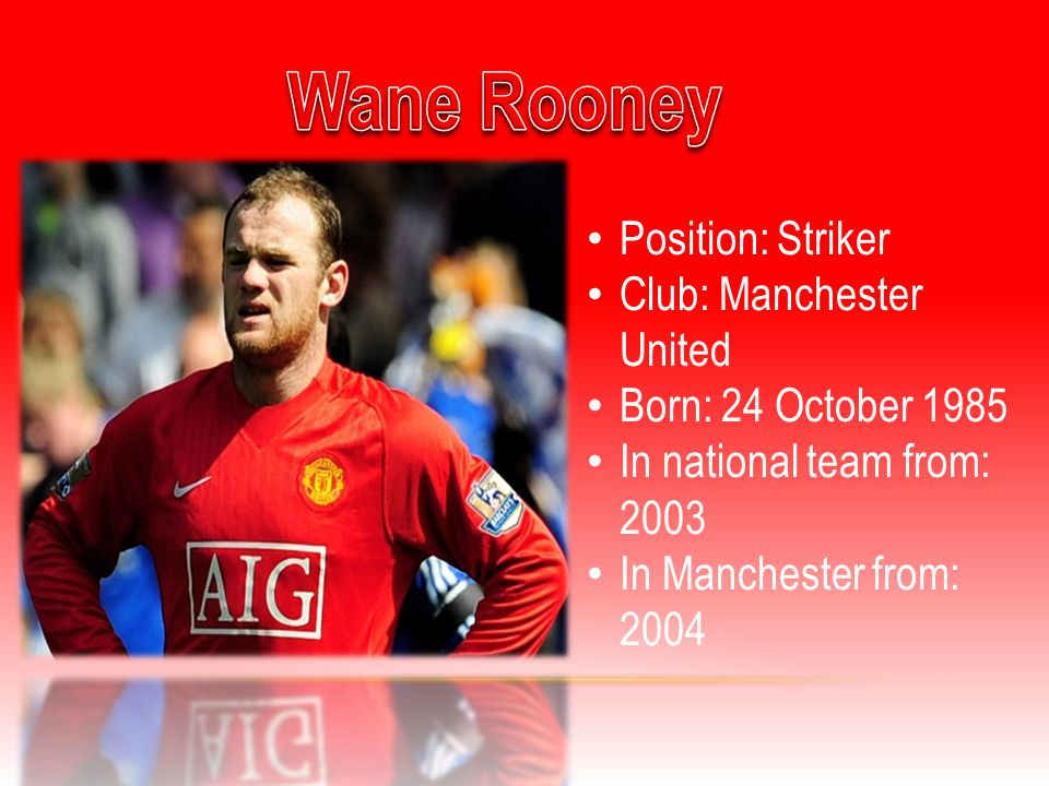 Position: Striker Club: Manchester United Born: 14 December 1979 In national team from: 1998 In Manchester from: 2009