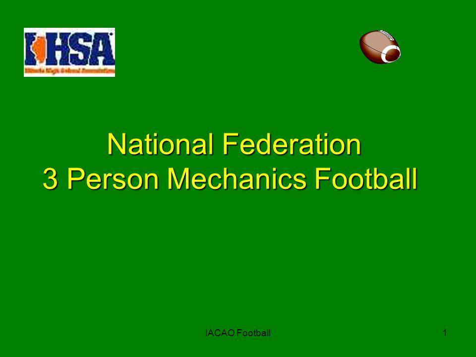2 Football Mechanics Criteria Communication Communication Field Positions Field Positions Keys & General Mechanics Keys & General Mechanics