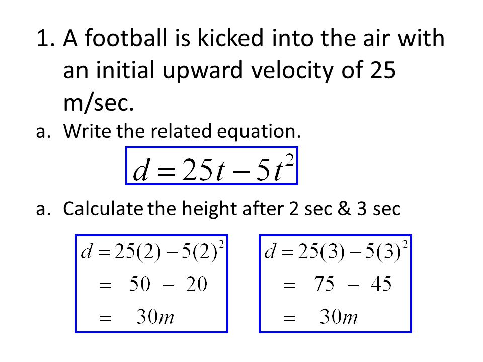 3.c. At what time does the ball reach its highest point.