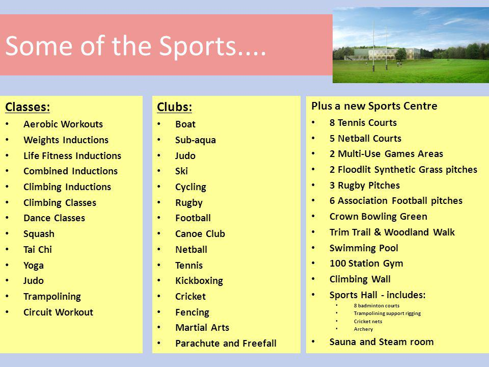 Some of the Sports....