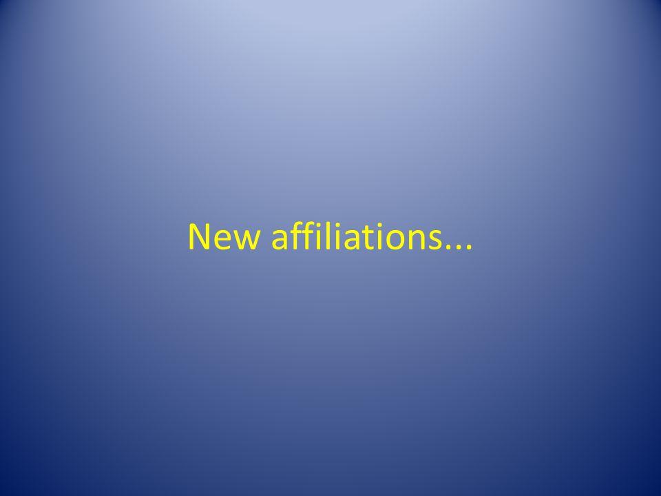 New affiliations...